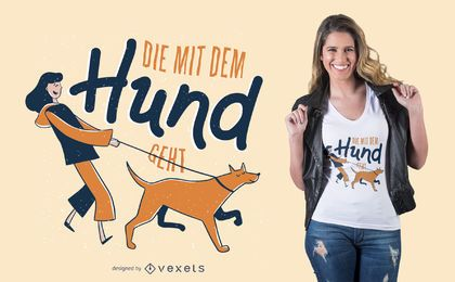 Design alemão do t-shirt de Hund