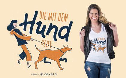 Deutscher Hund T-Shirt Entwurf