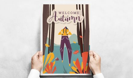 Welcome autumn poster
