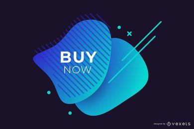 Diseño de banner azul venta abstracta