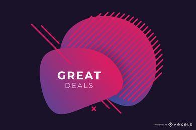 Abstrakter Verkauf Red Gradient Banner Design