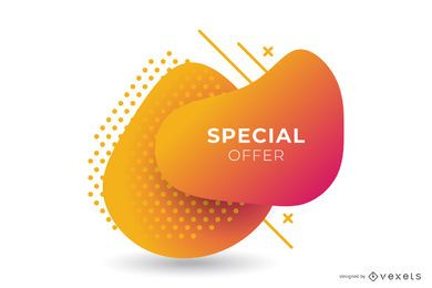 Abstract Sale Orange Gradient Banner Design