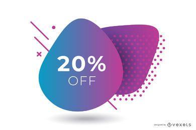 Abstraktes Verkaufs-violettes Steigungs-Fahnen-Design