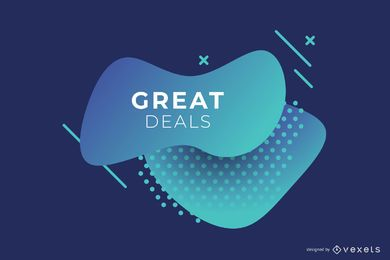 Abstract Blue Business Gradient Banner Design
