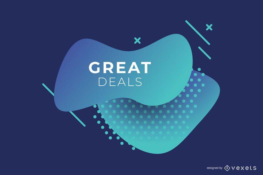 Abstrato azul negócios gradiente Banner Design