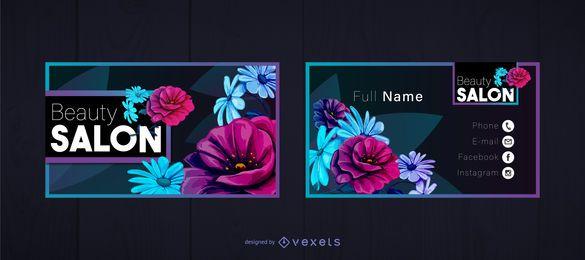 Schönheitssalon-Visitenkarte-Schablone