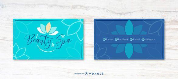 Diseño de tarjeta de visita de spa de belleza