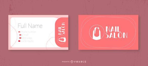 Design de cartão de visita do salão de beleza do prego