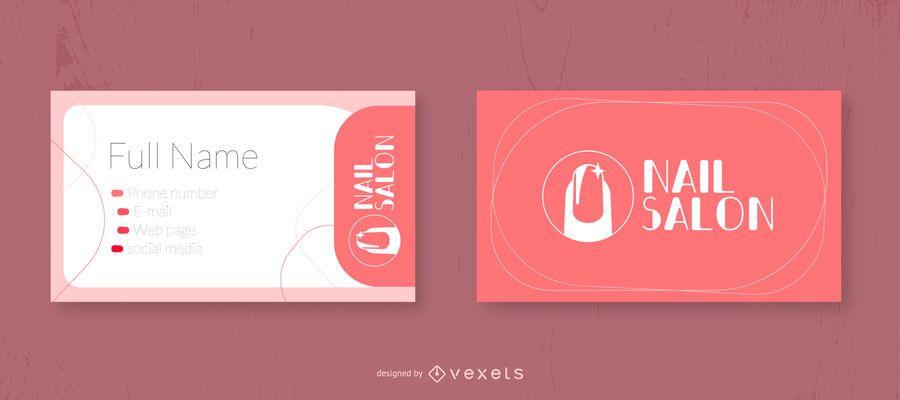 Diseño de tarjeta de visita para salón de uñas