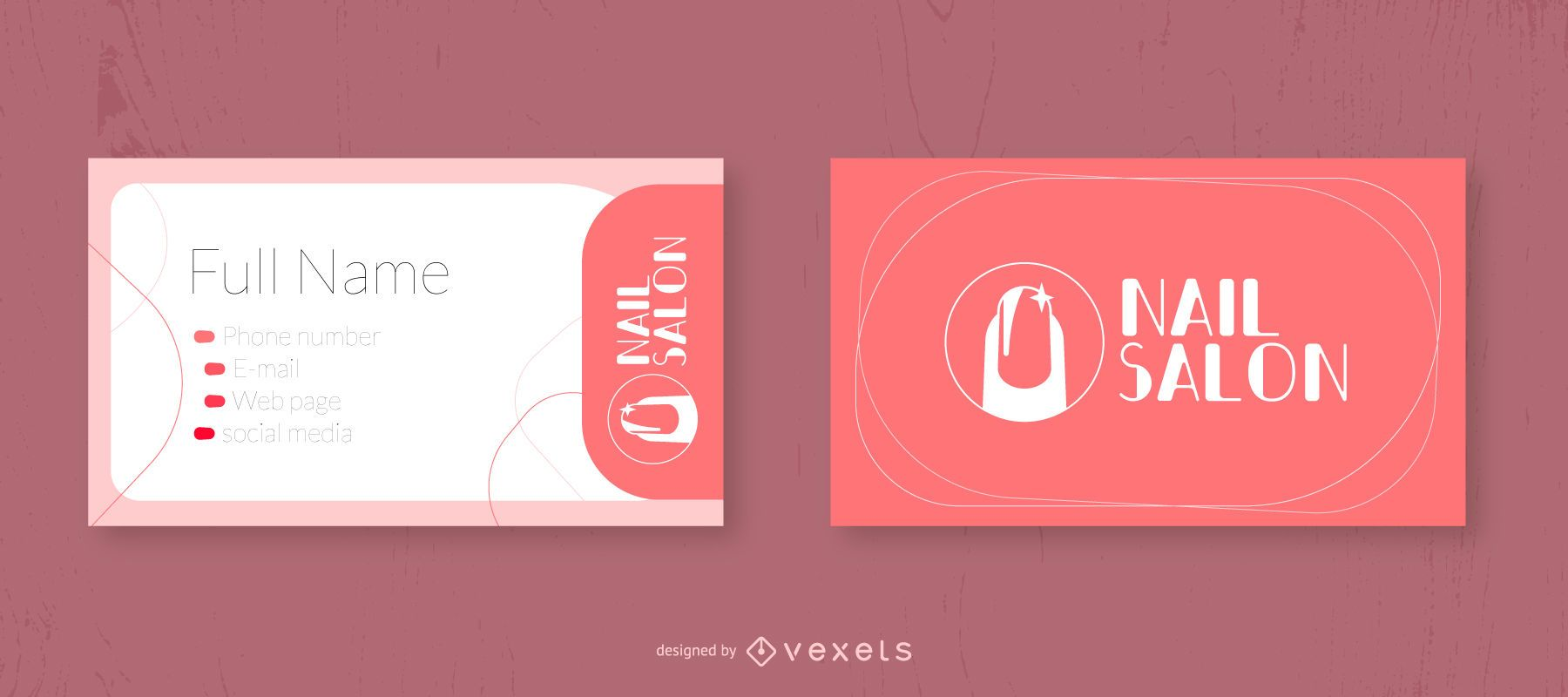 Nail Salon Business Card Design Vector Download