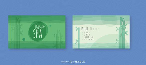 Design de cartão de visita de bambu