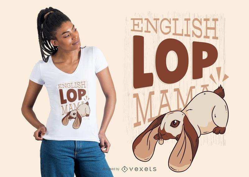 Projeto do t-shirt do Mama do inglês Lop