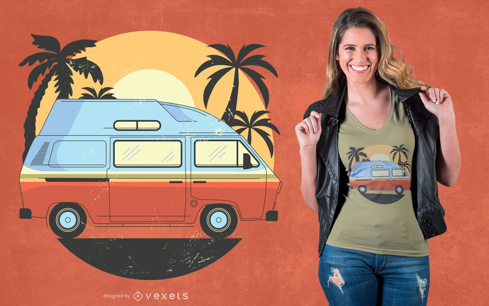 Diseño de camiseta Camper Van