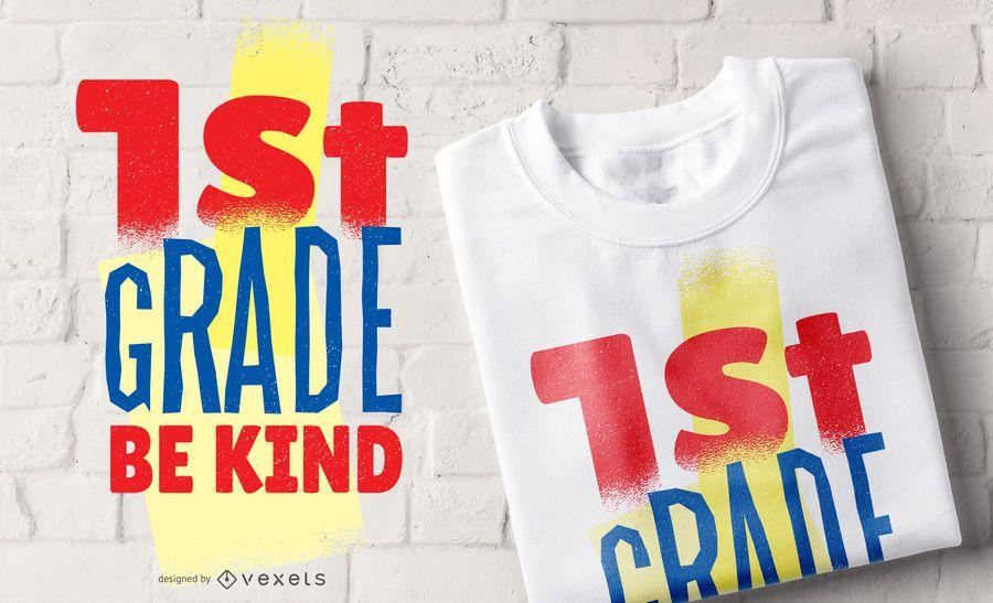 Diseño de camiseta de primer grado
