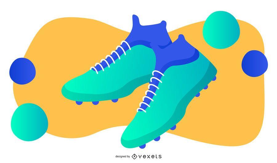Ilustración de zapatos de fútbol