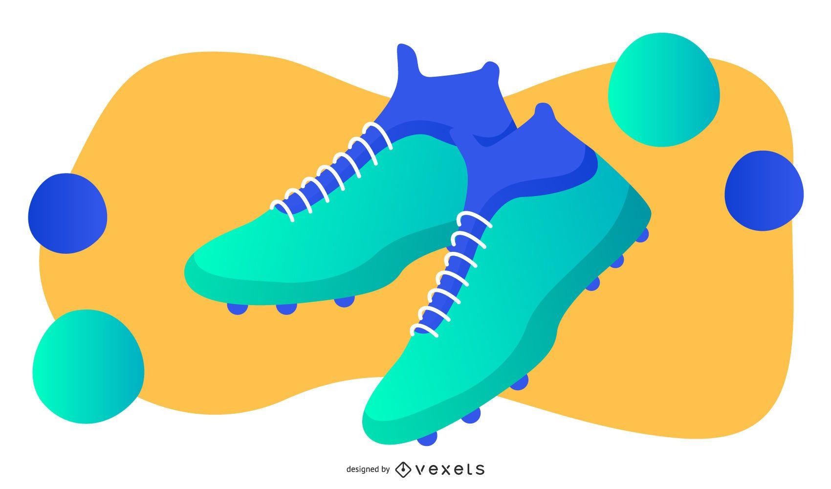 Soccer shoes illustration