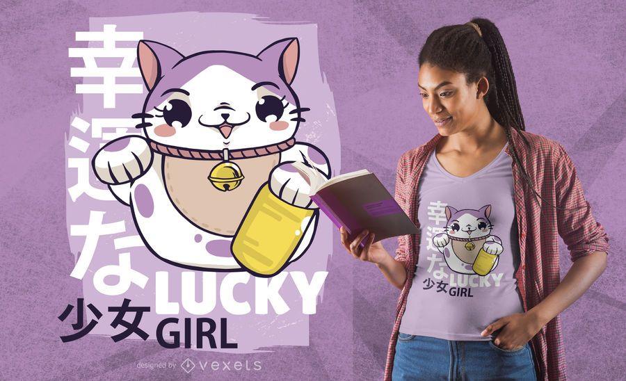 Lucky girl t-shirt design