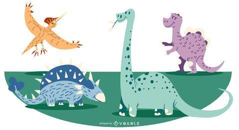 Ilustración de dibujos animados dinosaurio
