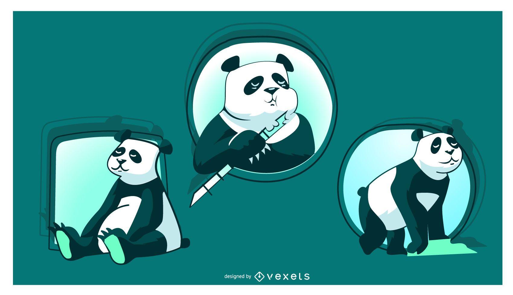 Cute Panda Illustration
