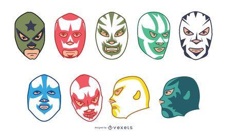 Mexikanische Lucha Libre Maskensammlung