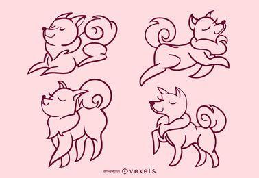 Elegante juego de golpes de perro