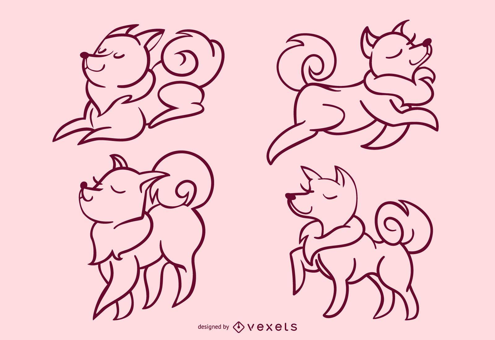 Stylish dog stroke set