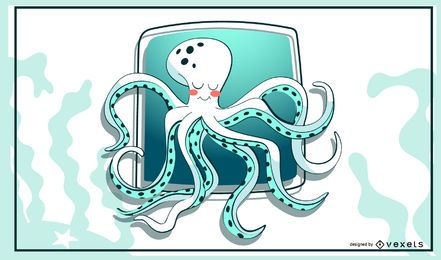 Stylish octopus illustration
