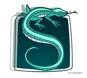 Ilustração à moda do lagarto