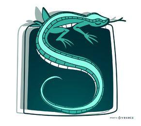 Ilustración de lagarto con estilo