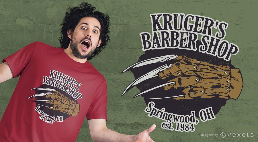 Design de t-shirt de barbearia de Kruger