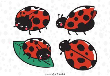 Ilustração de joaninha cute