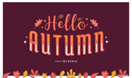 Hola letras de otoño