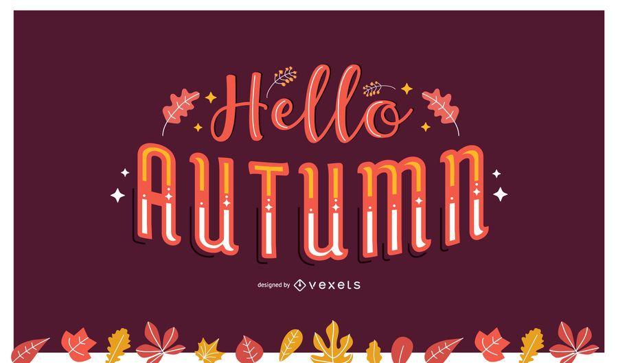 Olá letras de outono