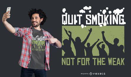 Dejar de fumar diseño de la camiseta