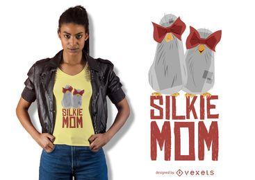 Diseño de camiseta de mamá Silkie
