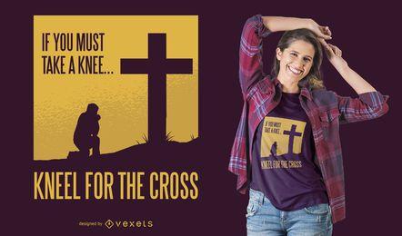 Knie nieder für das Cross T-Shirt Design