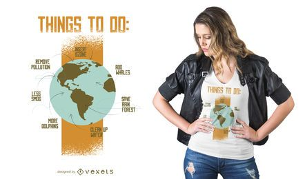 Diseño de camiseta Save Earth