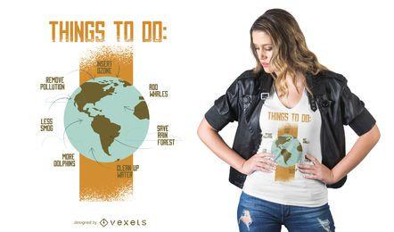 Speichern Sie Erde T-Shirt Design