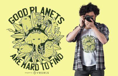 Outro projeto do t-shirt do planeta