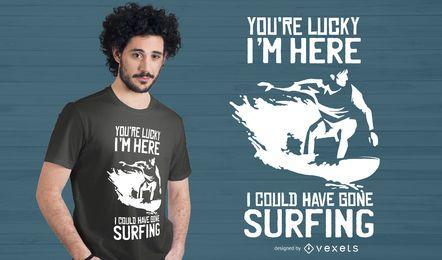 Design de camisetas de citações do surf