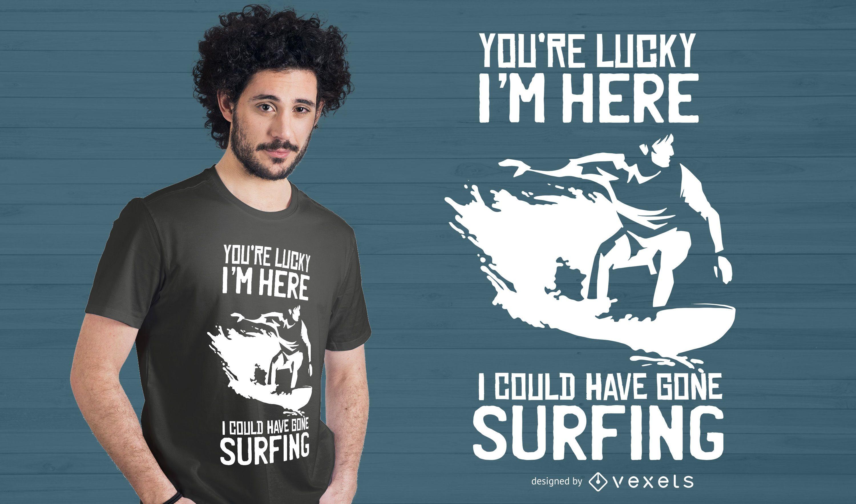 Dise?o de camiseta Surf Quote