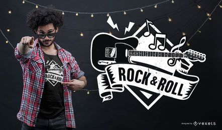 Projeto do t-shirt do rock and roll