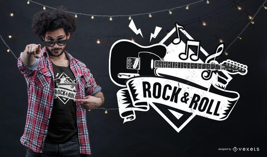 Diseño de camiseta de rock and roll