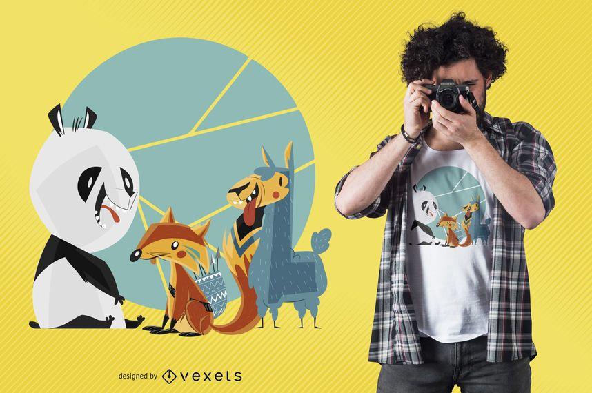 Tier-Freund-T-Shirt Entwurf