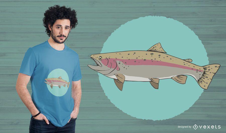 Projeto do t-shirt dos peixes de arco-íris