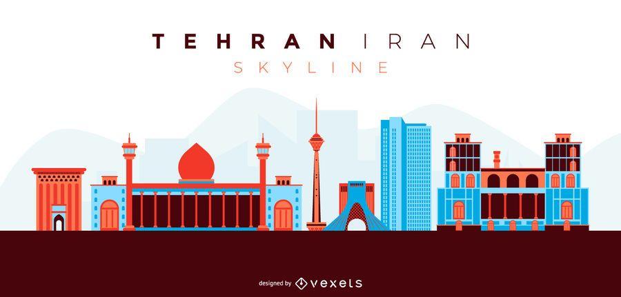 Cidade de Teerã Irã Skyline