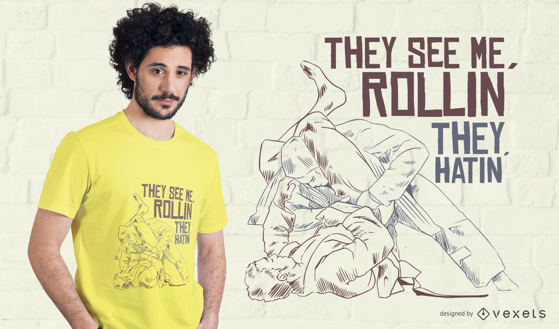 Jiu Jitsu T-shirt Design