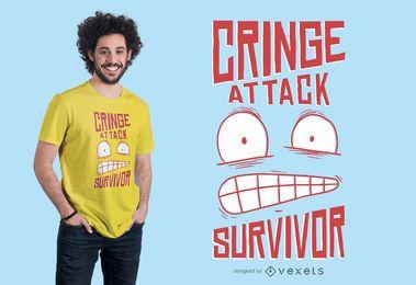 Diseño de camiseta Cringe Attack