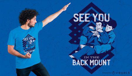 Projeto do t-shirt das citações do Jiu Jitsu