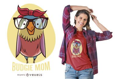 Diseño de camiseta Bird Mom